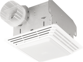 Beau The Broan 678 Ventilation Fan U0026 Light Combination Is Rated 2.5 Sones And 50  CFM To Make A Useful Option ...