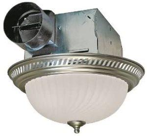 Air King DRLC702 Round Bath Fan with Light