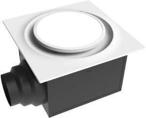 Aero Pure ABF110 L6 W ABF110L6 110 CFM w/LED Light, Energy Star White Quiet Bathroom Ventilation Fan