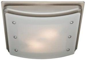 Hunter 90064 Ellipse Bathroom Ventilation Exhaust Fan with Light